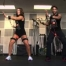 Lisa and Melina working out