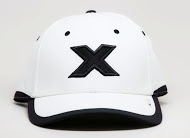 CXS416L white cap black X front view