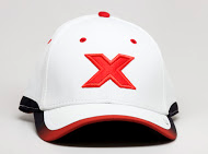 CXS416L white cap red X front view